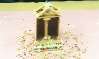Before winter break, our seventh graders participated in a project in which they designed and built (or attempted to build) temples in the style of the ancient Greeks and Romans.