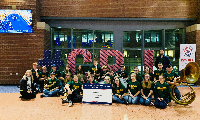 Thursday, December 19th students from our HS Band performed at Nationwide Arena before the Blue Jackets Game.
