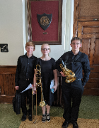 Congratulations to HS Band Students Andrew Geyer, Hannah Geyer, and Sammy Rhoads for being selected for and participating in the Ohio Wesleyan University Honor Band February 13-15!!!