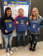 Madison Plains FFA Officer Books       For the last year, the Madison Plains FFA secretary, treasurer, and reporter have been collecting records and photos for their officer books. The secretary's book holds records of all chapter activities such as agend