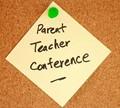 post it note parent teacher conferences