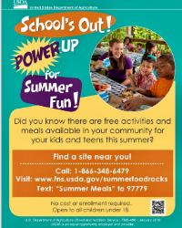 Summer Activities and Meals for School Age Children