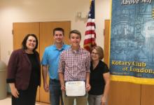 Gavin Jones - Rotary Club's September Student of the Month