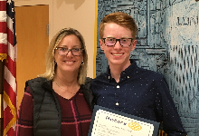 Congratulations to Ian, and his mom, on being named the MPHS Student of the Month for Rotary for November 2019!  We are proud of you, Ian! Great work!  #GoEagles #MPStrong