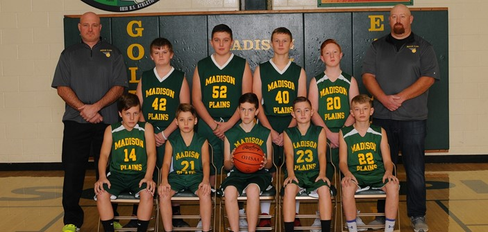 7th Grade Boys Basketball Team