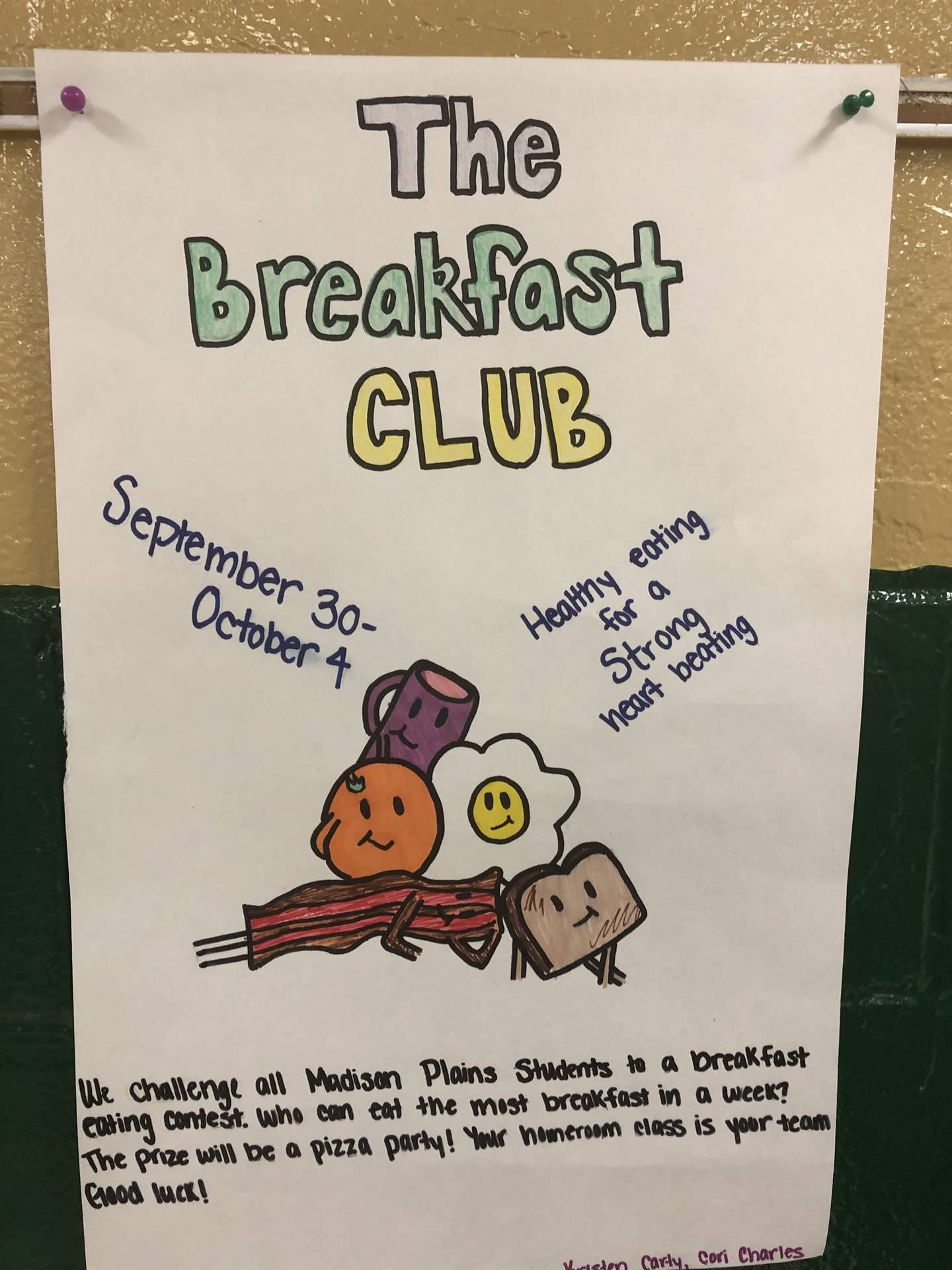 This week, the JR/HS cafeteria and FCCLA have collaborated to promote breakfast. Mrs Jarvis' classes