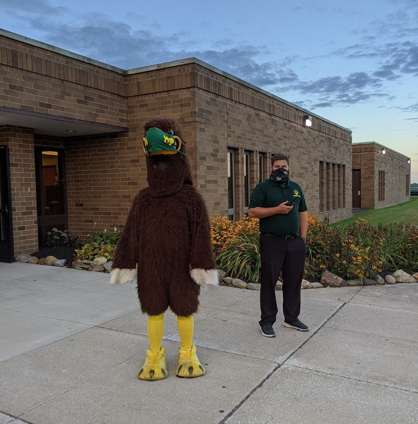 First day of school with the Eagle