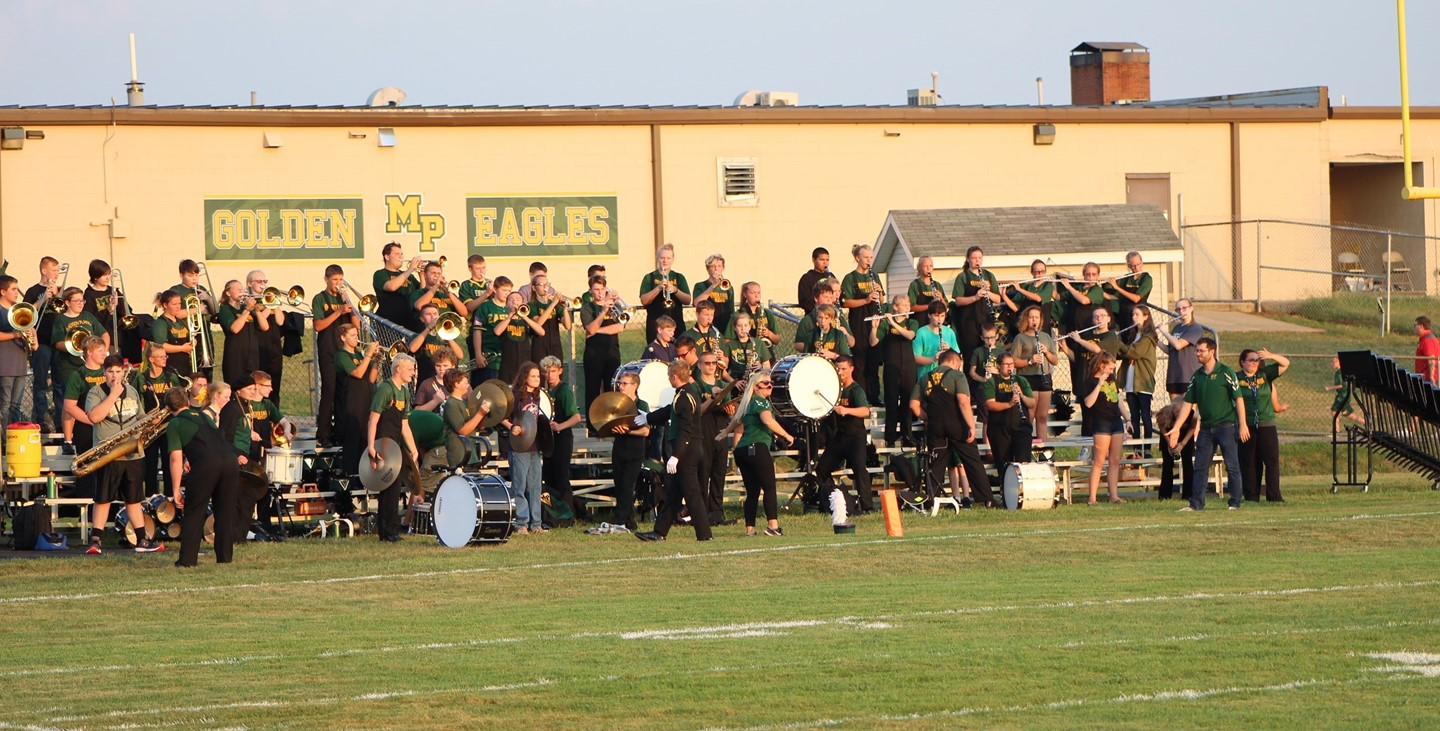 Our marching band at the football game