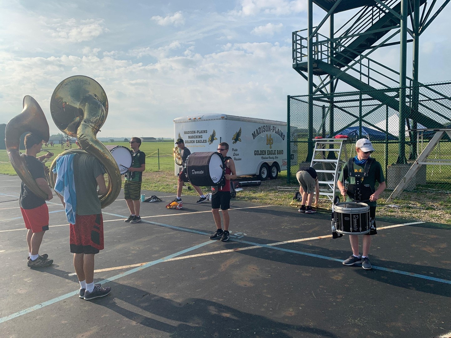 The MP Marching Band is hard at it!